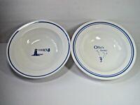 """Pottery Barn Resort Pasta  Set Of 2 Pasta Bowls 9.5"""""""