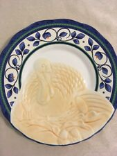 Pfaltzgraff ORLEANS Turkey Embossed Buffet Plate (s) Thanksgiving NEW