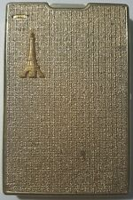 New listing Vintage Golden Paris Eiffel Tower Cigarette Case w/built in lighter