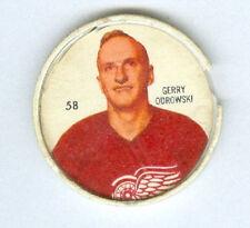 GERRY ODROWSKI 1960-61 Salada / Shirriff Coin #58 Hockey G '60 DETROIT RED WINGS