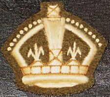 WWII British Army No2, Warrant Officers Class 2, WO2 Badge / King's Crown