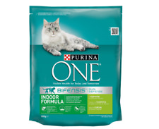 2x Purina One Bifensis for Indoor Cats  Turkey Dry Pet Cat Food  800g