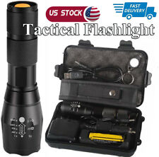 Super-bright Flashlight 50000LM USB Rechargeable Military Tactical Torch 18650