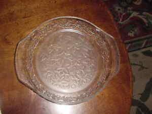 "Princess House Fantasia Crystal"" 9 1/2 inch Pie Plate"