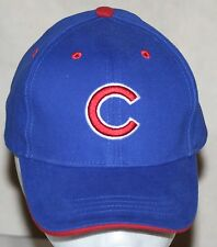 CHICAGO CUBS BASEBALL CAP HAT ADJUSTABLE XS GENUINE MLB MERCHANDISE RED EDGE