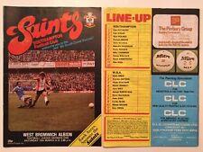 Southampton v West Bromwich Albion Programme 13.3.82 WBA x 2