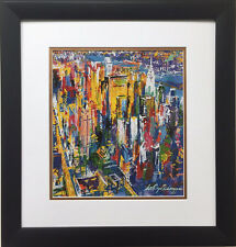 "LeRoy Neiman ""Manhattan"" Newly Custom FRAMED ART PRINT New York City NYC NYNY"