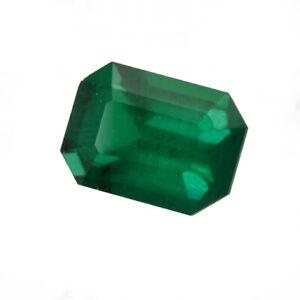 1.06 ct Zambia Natural Emerald Cut ~7.5 X 5.5 Loose Green Gemstone 656_VIDEO