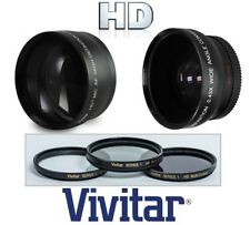 Hi-Def Wide Angle Telephoto and 3-Pc Filter Set For Nikon D3400 D5600
