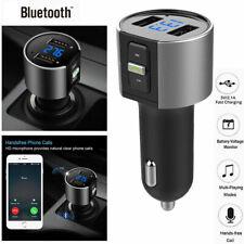 Wireless In-Car Bluetooth FM Transmitter MP3 Radio Adapter Car 2 USB Charger EN