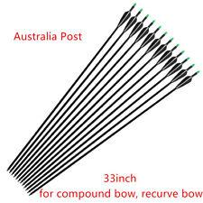 """12pk 33"""" Fiberglass Arrows Archery Hunting Compound Bow Recurve Bows AU"""
