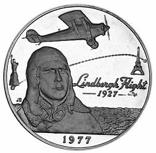 1977 Samoa Tala  Sterling Silver Proof Coin Lindbergh NY to Paris  4,522 Minted