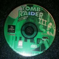 Tomb Raider III 3 Ps1 Playstation one Disc Only TESTED Adventures of Lara Croft