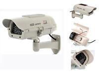 Solar Fake Dummy Security Bullet Camera Flashing LED Light Indoor Outdoor