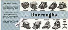 BURROUGHS INK BLOTTER Typewriter CASH REGISTER Adding Machine OFFICE accounting