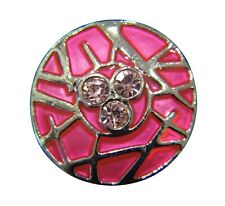 Noosa Style Chunks Snap Button Charms Ginger Snaps Charm Pink Enamel 20mm