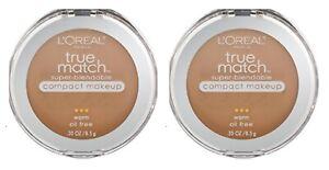 Set of 2 L'Oreal True Match Super Blendable Compact Foundation W4 Natural Beige
