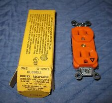 Hubbell IG-5262 Orange ISOLATED GROUND Duplex Receptacle Outlet 15A 125V