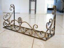 Hand Iron French Style Wall Flower Pot Plant Holder Rack Window Box BRS001L