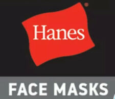 5 Pack - Hanes White 100% Cotton Face Mask Washable Protective Cover (PHE)