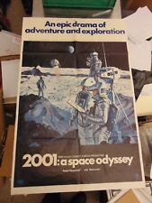 2001 A Space Odyssey Original 1968 Men On Moon One Sheet Poster #N101