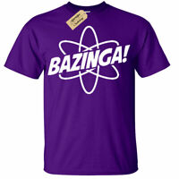Bazinga Particle T Shirt atom big bang gift science theory geek Mens tee