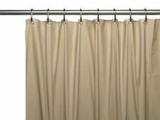 Linen Shower Curtain Liner Mold Mildew Bacteria Resistant, Magnets Grommets