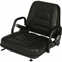 Concentric Universal Fold-Down Fork Lift Seat - Black, Model# 355102BK03