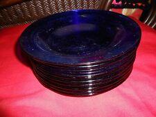 "Beautiful COBALT Plates Set. of 11........7.5"" diameter"