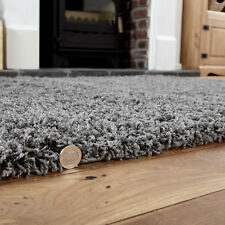 Modern Small 5cm Contemporary Very Thick - Anthracite Dark Grey Shaggy Rugs Mats