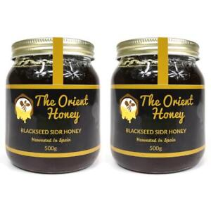 2 x 500G Black Seed Sidr Honey Quality 100% Authentic Royal Raw The Orient Honey