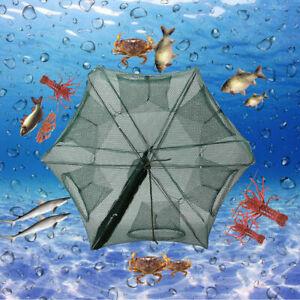 Fishing Bait Trap Crab Crawdad Shrimp Cast Dip Cage Fish Minnow Foldable Net