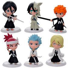 Bleach 6pcPVC Mini Cute Figures Ichigo Rukia Renji Kisuke Ulquiorra Toshiro