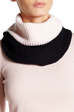 NEW KATE SPADE  Zip Up Neckwarmer KNIT SCARF $98 PINK BLACK COMBO NORDSTROM