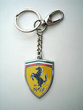 Genuine Ferrari Ceramic Shield Keychain / Key Chain Polished Metal