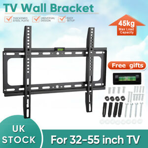 "TV Wall Bracket Fixed Mount 32 37 40 42 46 48 50 55"" inch Plasma LED LCD LG SONY"