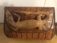 crocodile-Alligator Taxidermy Unique Vitage Hand Bag Very Rare