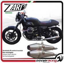 Zard 2 terminali scarico acciaio racing Moto Guzzi V7 classic 2008>2011