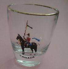 RCMP Policeman on his Horse -  Canada Shot Glass