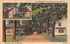 B99/ Vermilion Ohio Postcard 1946 Linen 2View Linwood Park Cottages Lake Erie