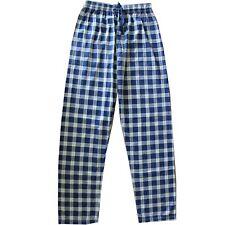 Jogging Trousers Of Pajamas Mens Blue White To Checks Stripes Soft 100