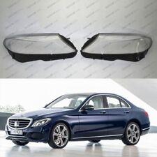 Mercedes C W205 (14-17) OEM Headlight Glass Headlamp Lens Plastic Cover (PAIR)