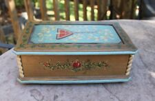 """Lovely Reuge Anri Floral Music Box Plays Doctor Zhivago Large 10""""x6""""x4"""""""