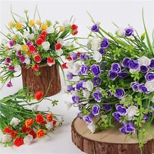 Plastic Flower Fake Plant Wedding Artificial Paris Rose Home Decor ONE