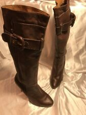 River Island Brown Leather Knee High Boots Size 40