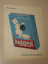 RADIOPOL RUGGERO BENELLI SUPER IRIDE=ANNI '50=PUBBLICITA=ADVERTISING=WERBUNG=345