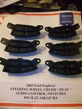 2003 Ford Explorer STEERING WHEEL CRUISE & AUDIO HVAC SWITCH s 3L2T-14K147-BA