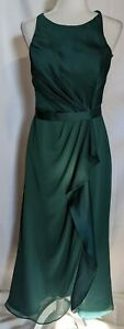 White By Vera Wang Green Sleeveless Long Formal Bridesmaids Dress Womens Size 10