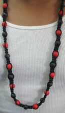 Stunning Black and Red 43 Genuine German Beads Shamballa Necklace