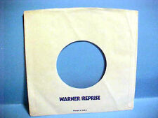 "VINTAGE ""WARNER/REPRISE"" RECORDS 7 IN 45 RPM COMPANY PAPER SLEEVE ONLY NO RECORD"